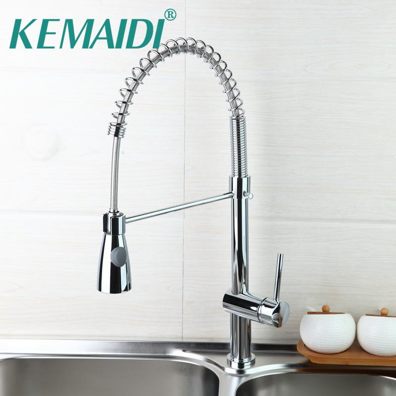 Hello High Quality Chrome Polished Water Faucet Solid Brass Kitchen Swivel Pull Down Spout Vessel Sink Mixer Tap By Georgen Dhgate