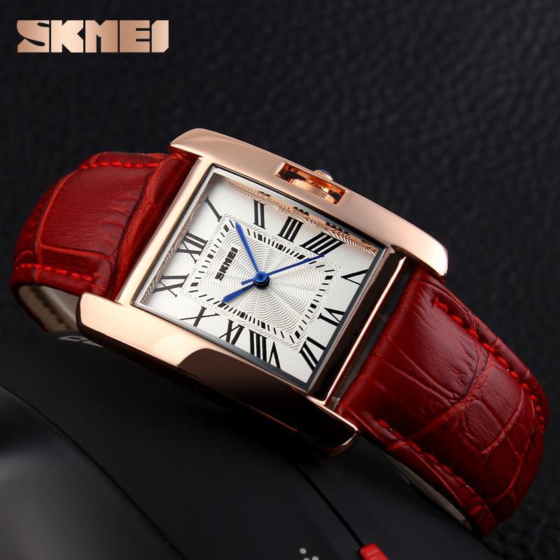 5636fd03bfd Compre Skmei Mulheres Quartz Relógios De Luxo Moda Casual Watch Pulseira De  Couro Rose Gold Lady Dress Montre Meninas Relogio Feminino 1085 De Zlgood