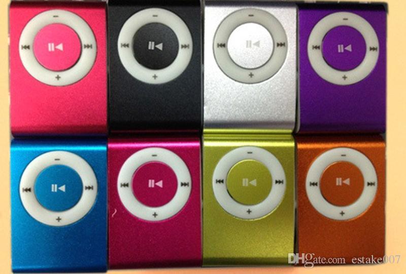 NOUVEAU Mode Mini Clip pas cher Digital Mp3 Music Player USB avec fente pour carte SD noir argent couleurs mélangées DHL Gratuit