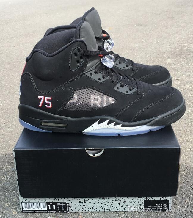 3b484aafe622a4 5s PSG 5 BCFC 5 Paris Saint Germain Top Quality Black Metallic 5s Black  Metallic OG GOLD Wholesale Basketball Shoes Men With Box Sport Shoes Mens  Sneakers ...
