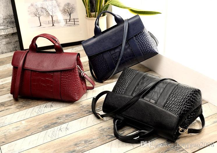 ... Grain Handbag Large Capacity Ladies  Bag New Style Fashion Slanting  One-shouldered Woman s Bag Genuine Leather Large Capacity Single-shoulder  Online ... d782e1b6ce1a6