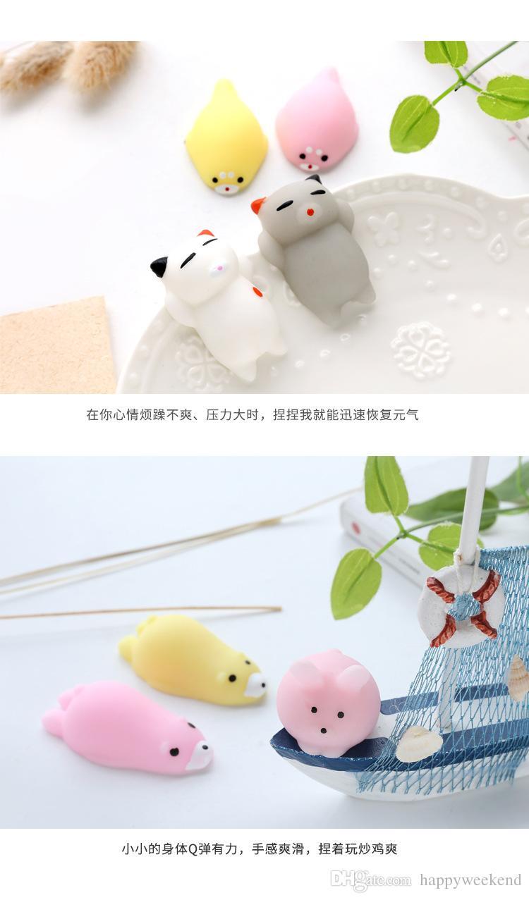 Animal Vent Jouet Mignon Panda Canard Lapin Anti-Stress Ball Nouveauté Amusant Antistress Pressant Doigt Exercice Stress Toy Couleur