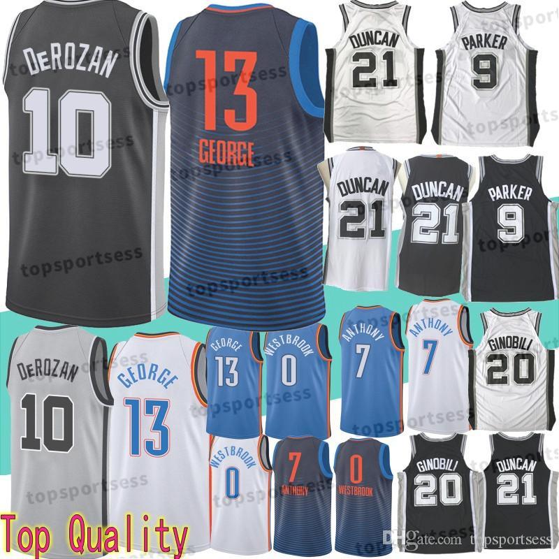 10 DeMar DeRozan Jersey 13 Paul George 21 Tim Duncan 0 Russell Westbrook 20  Manu Ginobili 7 Carmelo Anthony 9 Tony Parker 10 DeMar DeRozan 13 Paul  George 21 ... d04bd7746