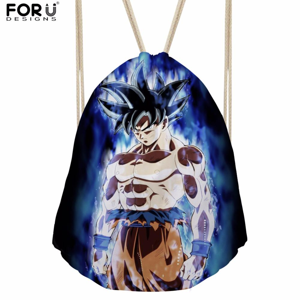 FORUDESIGNS Anime  Super Kids Drawstring Bags Men Fitness Sport Bags String Shoulder Bags for Boys School Bags Bolsa