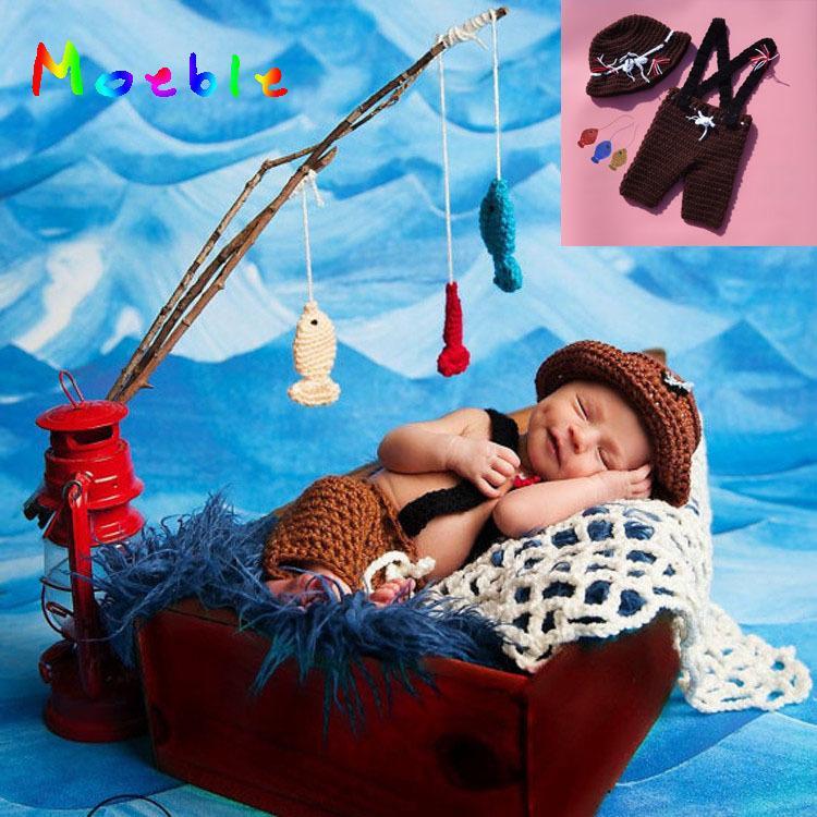 Compre Crochet Bebê Recém Nascido Chapéu E Calças Dos Pescadores Definir  Crianças Infantil Crochet Fotografia Props Bebê Traje De Natal MZS 15071 De  ... 431f4319f0e