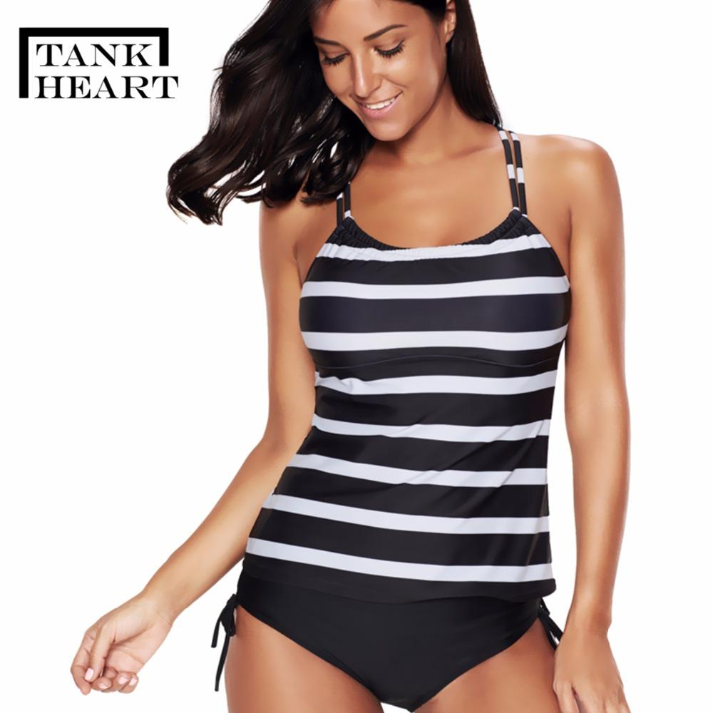 f18d332ce5918 2019 Wholesale Sexy Striped Black Swimsuit For Girls Plus Size Swimwear  Women Tankini Two Piece Swimming Suit Swim Bathing Suit 5XL From  Chenhanyang163