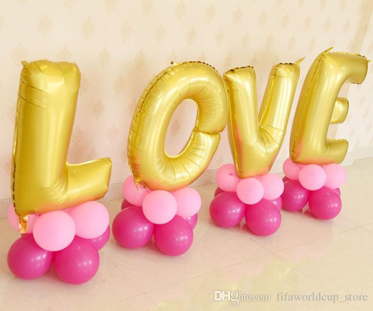 32inch Love Wedding Decorations Balloons Kit Letter Balloon Foil