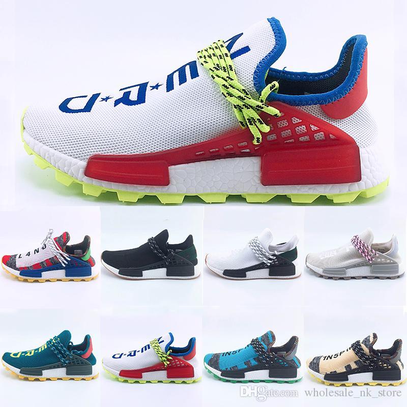 fc543102874ff New Arrival Creme X NERD Solar PacK Human Race Running Shoes Pharrell  Williams Hu Trail Trainers Men Women Runner Sports Sneakers 36 47 Clogs For  Women Shoe ...