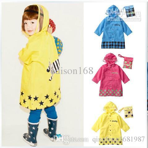 c2b160abd477 2018 Cute Smally Children Raincoat Kids Rain Coat Cape Poncho Baby ...