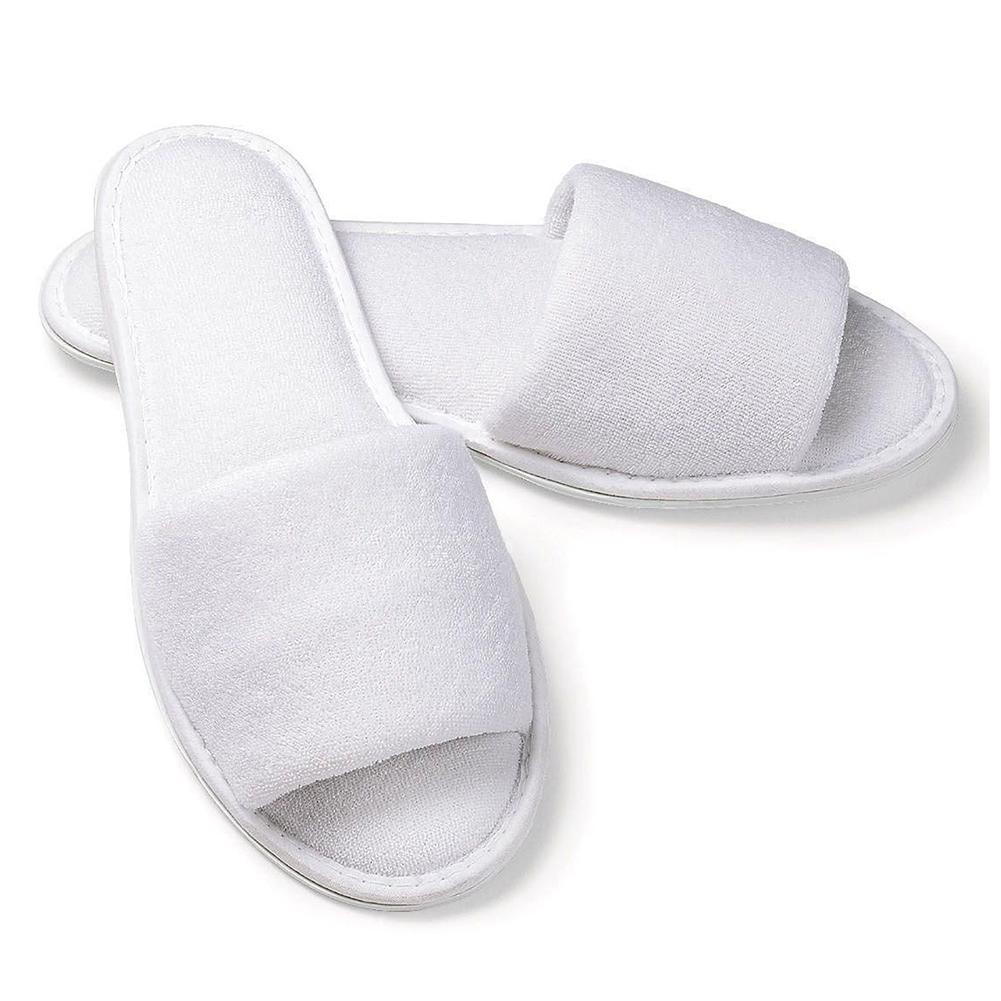 4380b5c9872 TEXU White Towelling Hotel Disposable Slippers Terry SPA Guest White Happy Feet  Slippers Grey Boots From Shuiyong