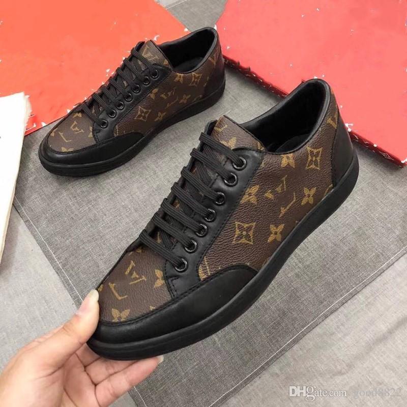 pretty nice 7fa6c caa93 2018 Fashion printing Designer Schuhe Männer Männer Schuhe aus echtem Leder  Designer Sneaker Herren Lauf Casual Schuhe Größe 38-45 mit Box