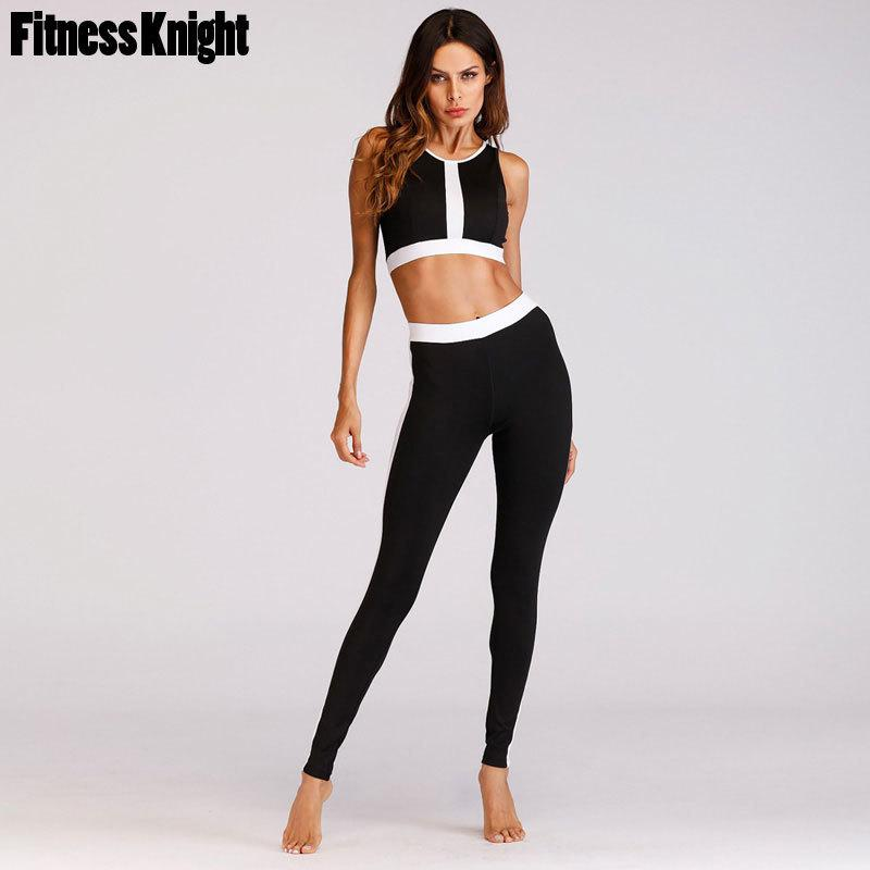 85f238744b 2019 Women Tracksuit Sport Suit Women Patchwork Yoga Set Fitness Jogging  Set Sport Costume Sports Bra+Pants Sportswear From Rainlnday