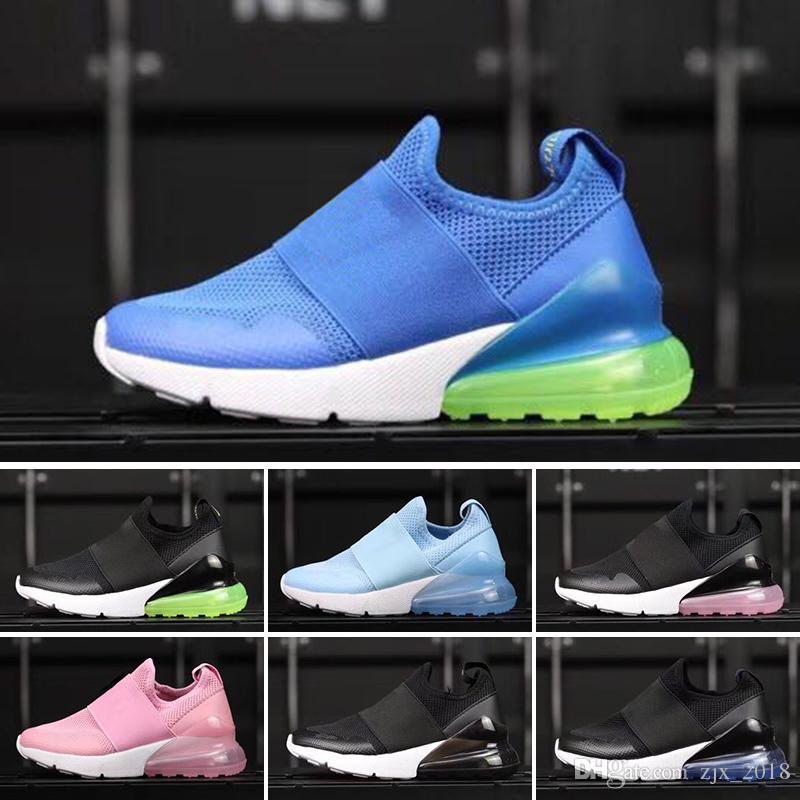 premium selection 37615 c5336 Acheter Nike Air Max 27c Chaud 270 Et 2018 Enfants Enfants Chaussures De  Course Noir Maxes Blanc Dusty Cactus Air Extérieur Enfant En Bas Âge  Athlétique ...