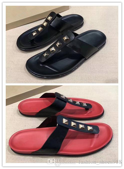 2018 selling luxury brand new men's fashion outdoor leisure slippers size 38-45 non slip rubber amazing price online 3KjeInC9d