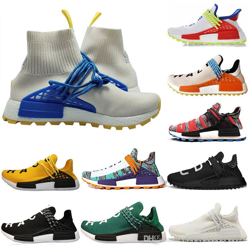 49b49ac3ef930 Cheap Running Shoes Socks Nmd Human Race Women Men Pharrell Williams NERD  White Red Pale Nude Noble Ink Men Designer Sneakers Trainers Sport Shoes