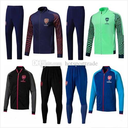 ee7ffb1b0 ARSENAL Tracksuit 18 19 Survetement Full Zipper Football Jacket 2018 ...