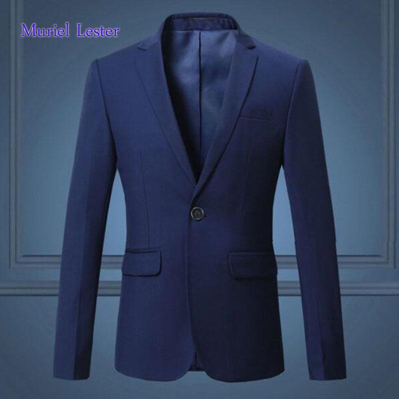 Acquista ML300 Colbert Jasje Mannen Casual Suit 2018 Giacca Uomo Giacca Blu  Scuro   Nero Giacca Uomo Elegante Slim Fit A  67.61 Dal Xiatian5  4e3afd656b0
