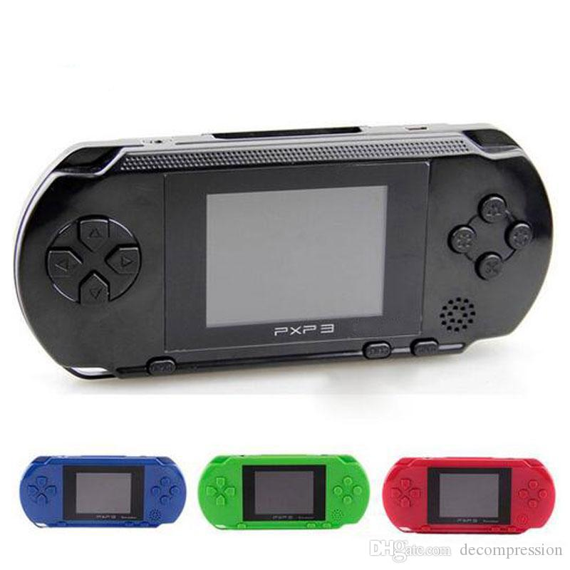 30PCS Wholesale PXP3 16 Bit TV Video Game Console Handheld Gaming Consoles PXP Mini Pocket Game Players For GBA Games DHL YX-PXP-1