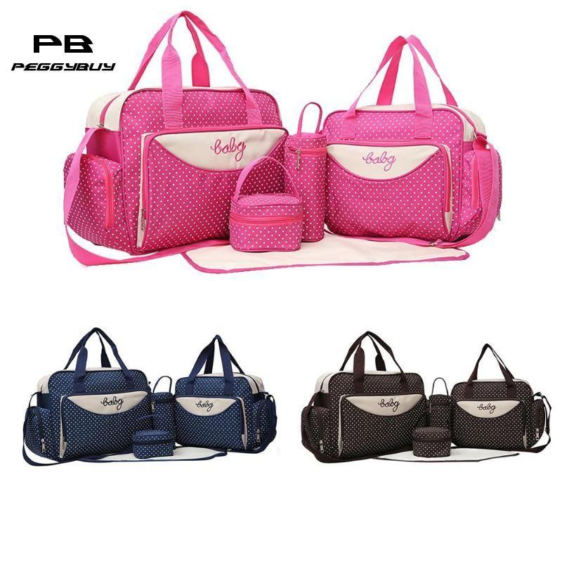 8d27411e Mom Baby Diaper Shoulder Handbags Stroller Maternity Nappy Bags Travel Bags  Cheap Travel Bags 5pcs/Set Mom Baby Diaper Shoulder Online with  $45.53/Piece on ...