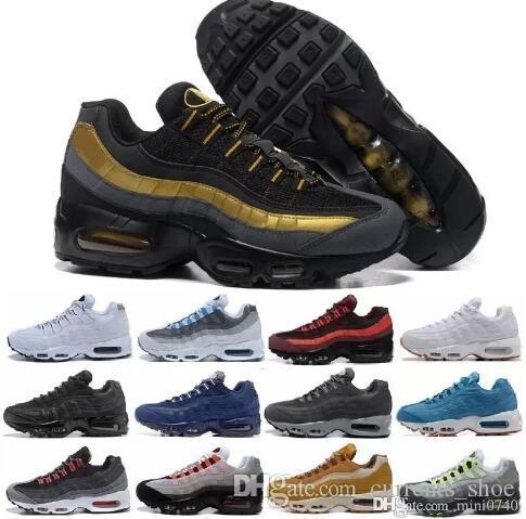 Men 95 OG Cushion Navy Sport High-Quality Chaussure 95s Walking ... 42e1b2e0ee88