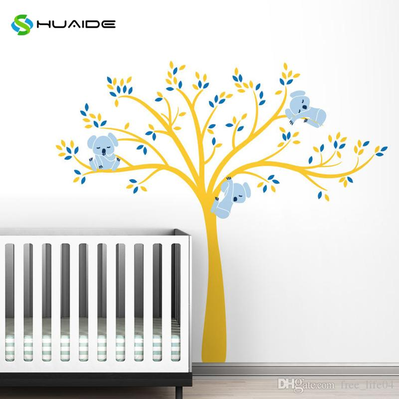 Modern Koala Tree Branches Wall Decal Baby Nursery Wall Decor Kids ...