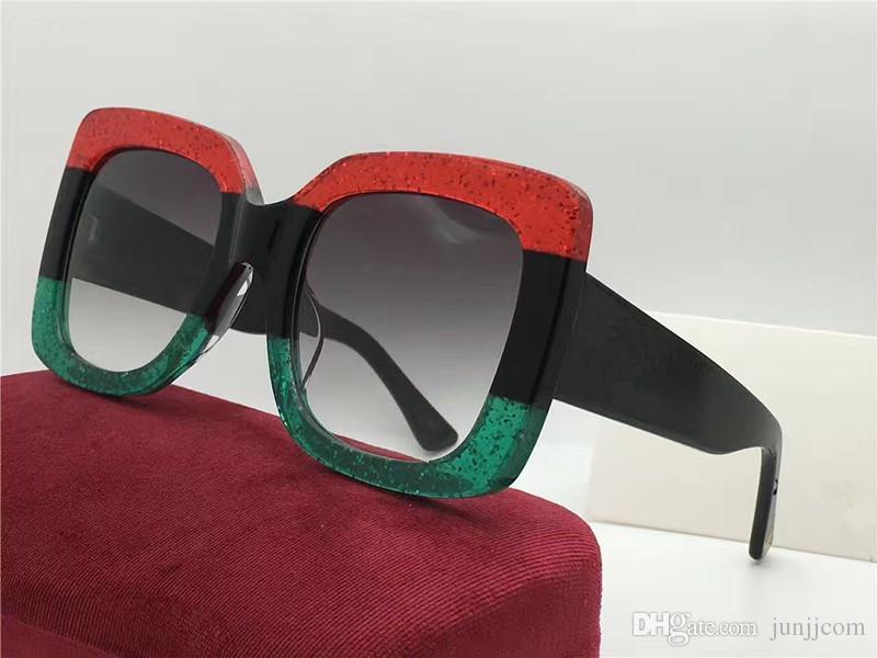2018 популярные солнцезащитные очки роскошные женщины Марка дизайнер 0083S квадратный летний стиль полный кадр высокое качество УФ-защита смешанный цвет поставляются с коробкой