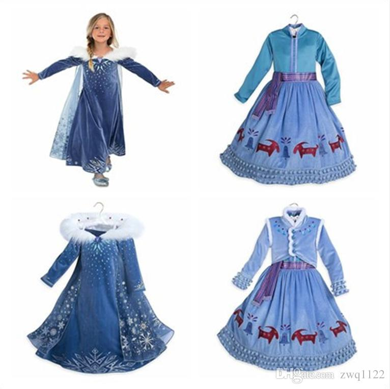 Baby Girls Winter Tutu Dresses Christmas Party Cosplay Costume Princess Snowflake Evening Dress Cloak Tassel Dresses Open to booking