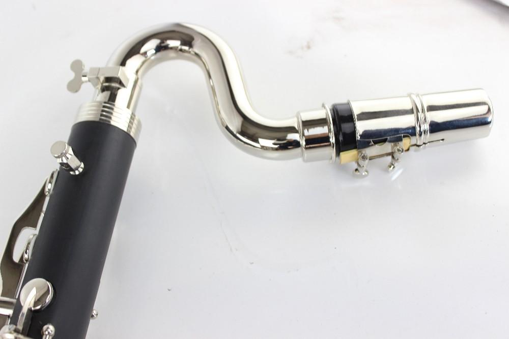 Büfe Siyah Bas Klarnet Yüksek Kaliteli Bb Klarnet Bırak B Tuning Maun Klarnet Gümüş Kaplama Anahtar Büfe Tuşları Enstrüman