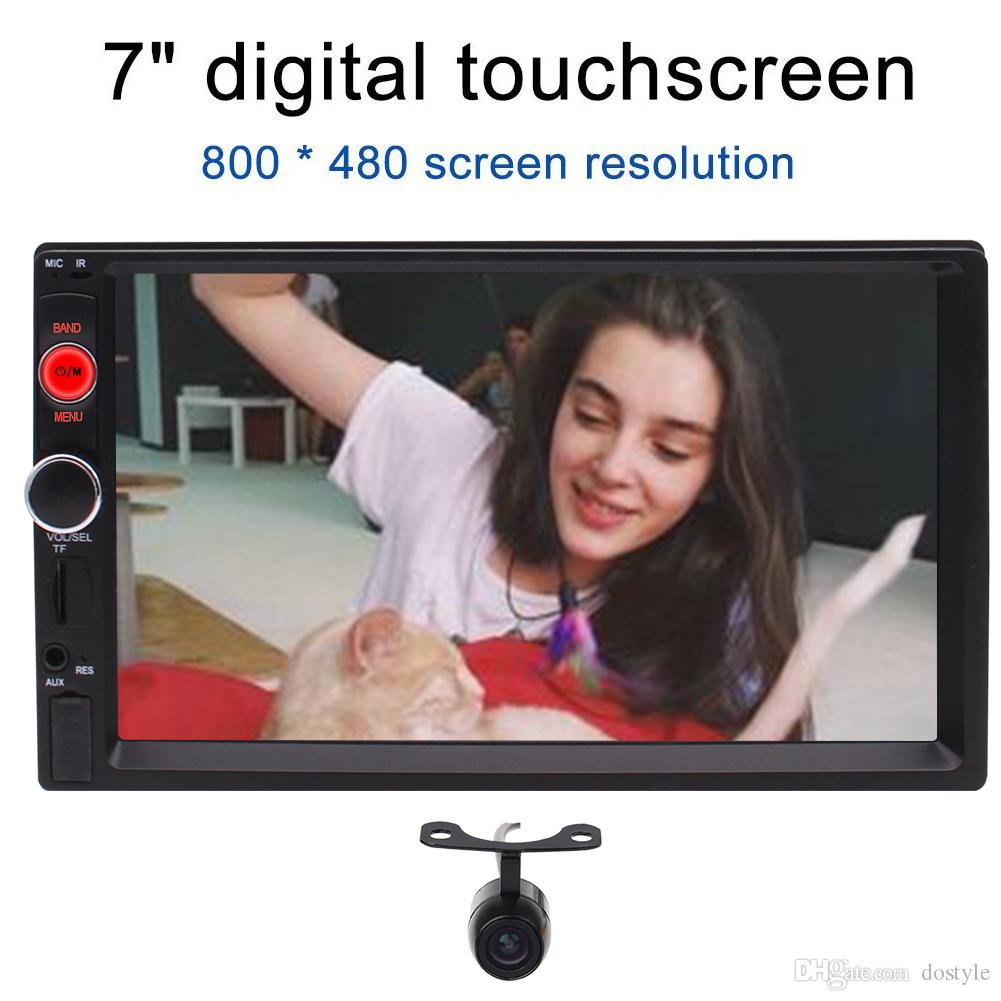 Camera 7 Universal 2 Din Car Stereo Head unit MP5 Player Bluetooth/Radio/AV  In/Music/USB/Phone/Capacitive Touch Screen/Movie/TF