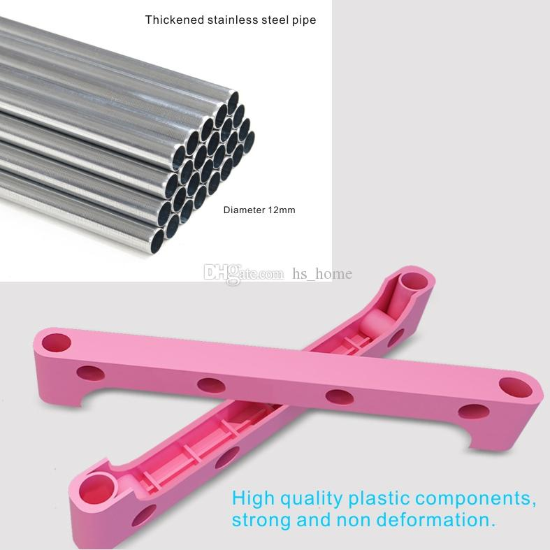 New 3 layer Rack Storage Simple book storage frame,Thickened stainless steel pipe, film covered waterproof nonwoven fabric.