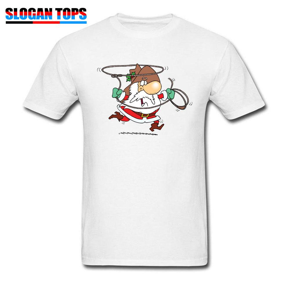 68bbdccf78d6 Funny T Shirt Cowboy Christmas T Shirt Men Santa Claus Print Tops Cute Xmas  Gift Tees Faddish Summer Cotton Clothes Guys Tee Design T Shirts Online  Order T ...