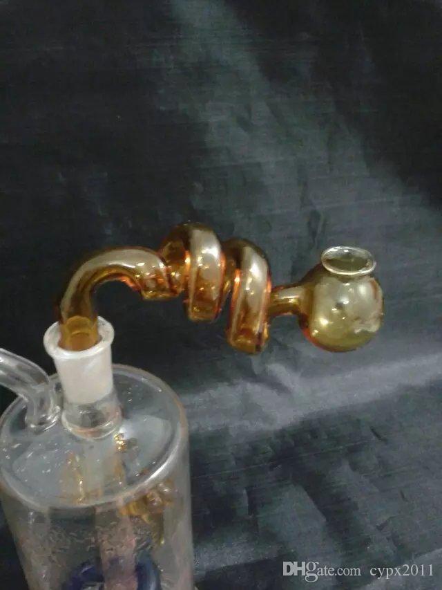 Цвет спирального горшка, оптовые стеклянные бонги масляные горелки трубы водопроводные трубы стеклянные трубы нефтяные вышки курение, Бесплатная доставка