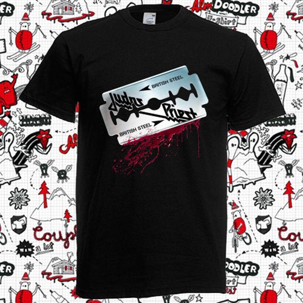 Compre Nuevo Judas Priest Camiseta Negra Para Hombre 712fdbe18da