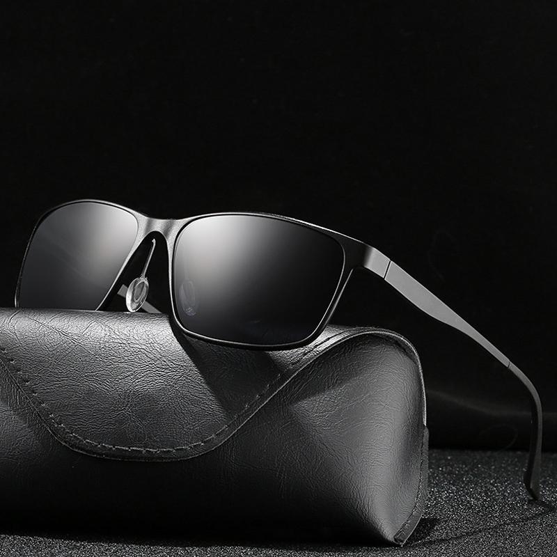 63efaefb75e Hindfield Men Polarized Sunglasses Aluminum Magnesium UV400 High Quality  Sun Glasses HD Driving Rectangle Metal Sunglasses Electric Sunglasses  Fastrack ...