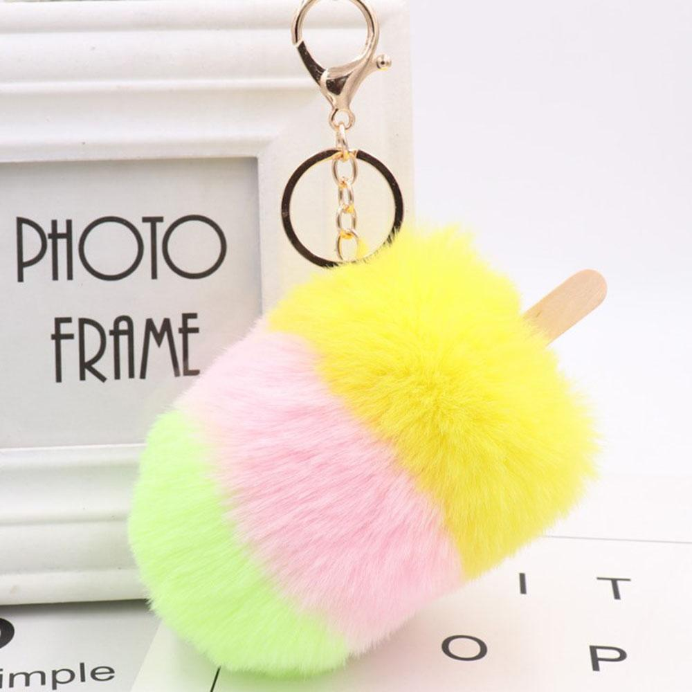 Cute Fluffy Cream Bag Pendant Car Pendant Women S Plush Pompom Keychain  Handmade Rabbit Hairkey ChainJewelry Gift Photo Keychain Cute Keychains  From ... 4d7bb63b6af9a