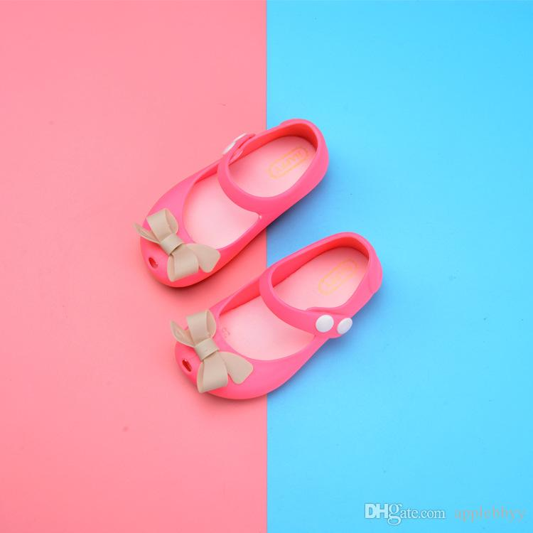 Meliss arco gelatina calzature bambini pattini della principessa scarpe da spiaggia ragazze del commercio all'ingrosso, l'estate nuovi sandali ragazza i DHL