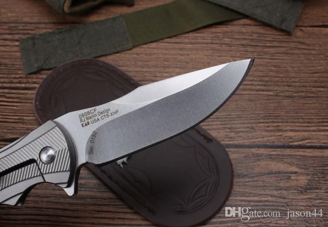 ZT0192 titanium handle quick knife Best folding pocket knife Titanium alloy handle D2 steel blade Bearing structure best gift knives