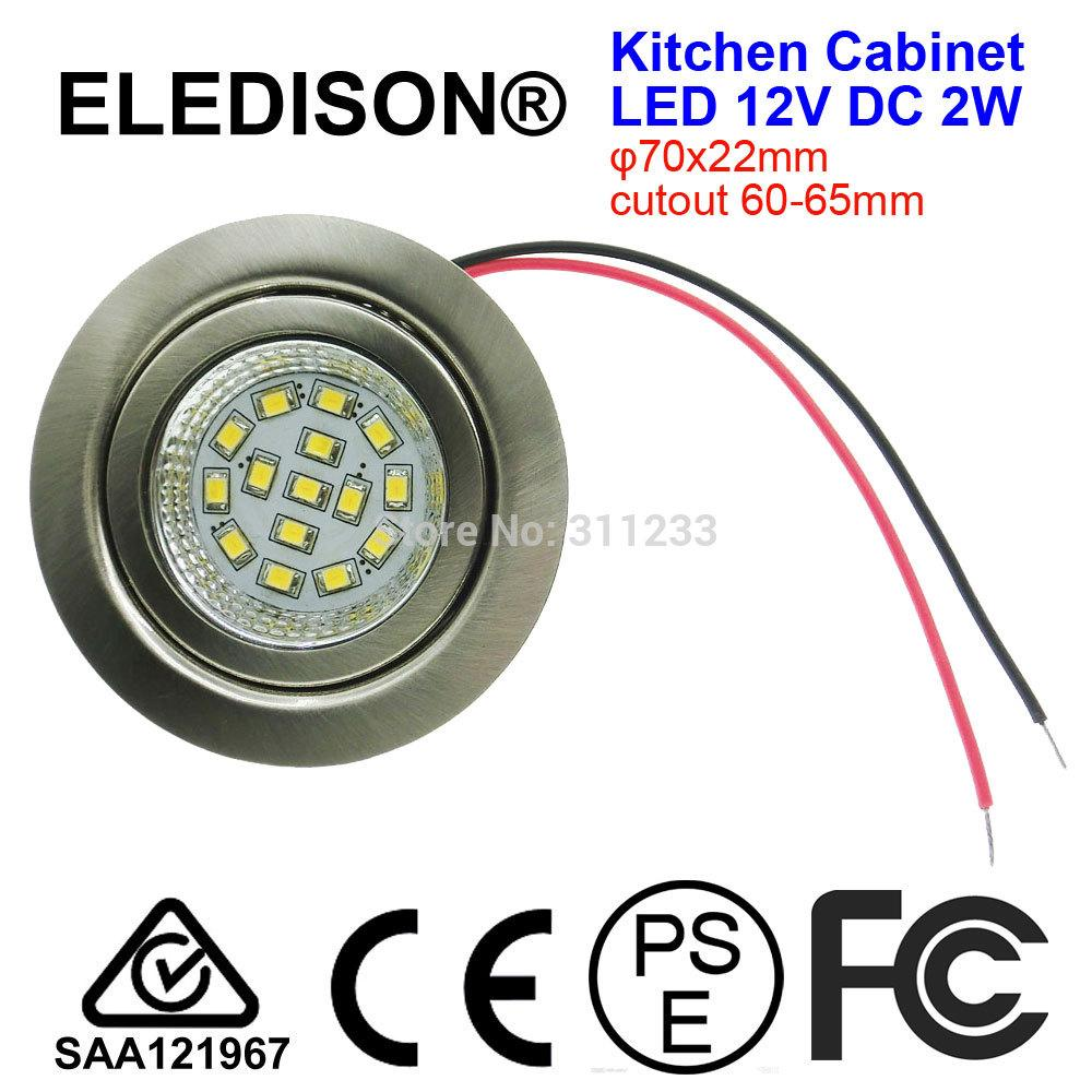dc 12v led closet light bulb 2w recessed light input cutout hole