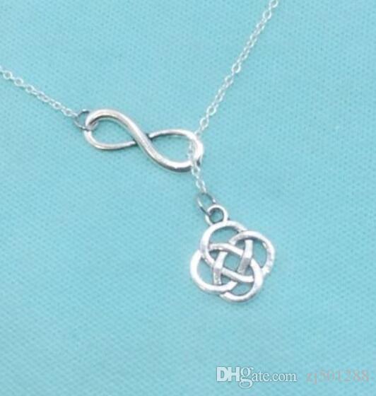 Vintage Gümüş Infinity kement TURTLE Celtic Knot Uçak Pentagram Kolye Kolye Bildirimi Uzun Kolye Kadın Takı Aksesuarları