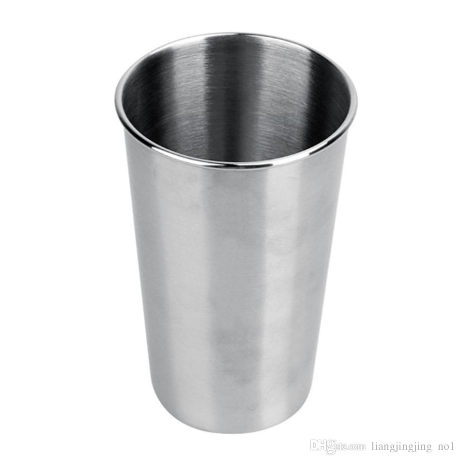 Stainless Steel Beer Cup Mug 500ML Water Cup Drinks Cup Kitchen Bar Tools Outdoor Camping Travel Mugs OOA4667