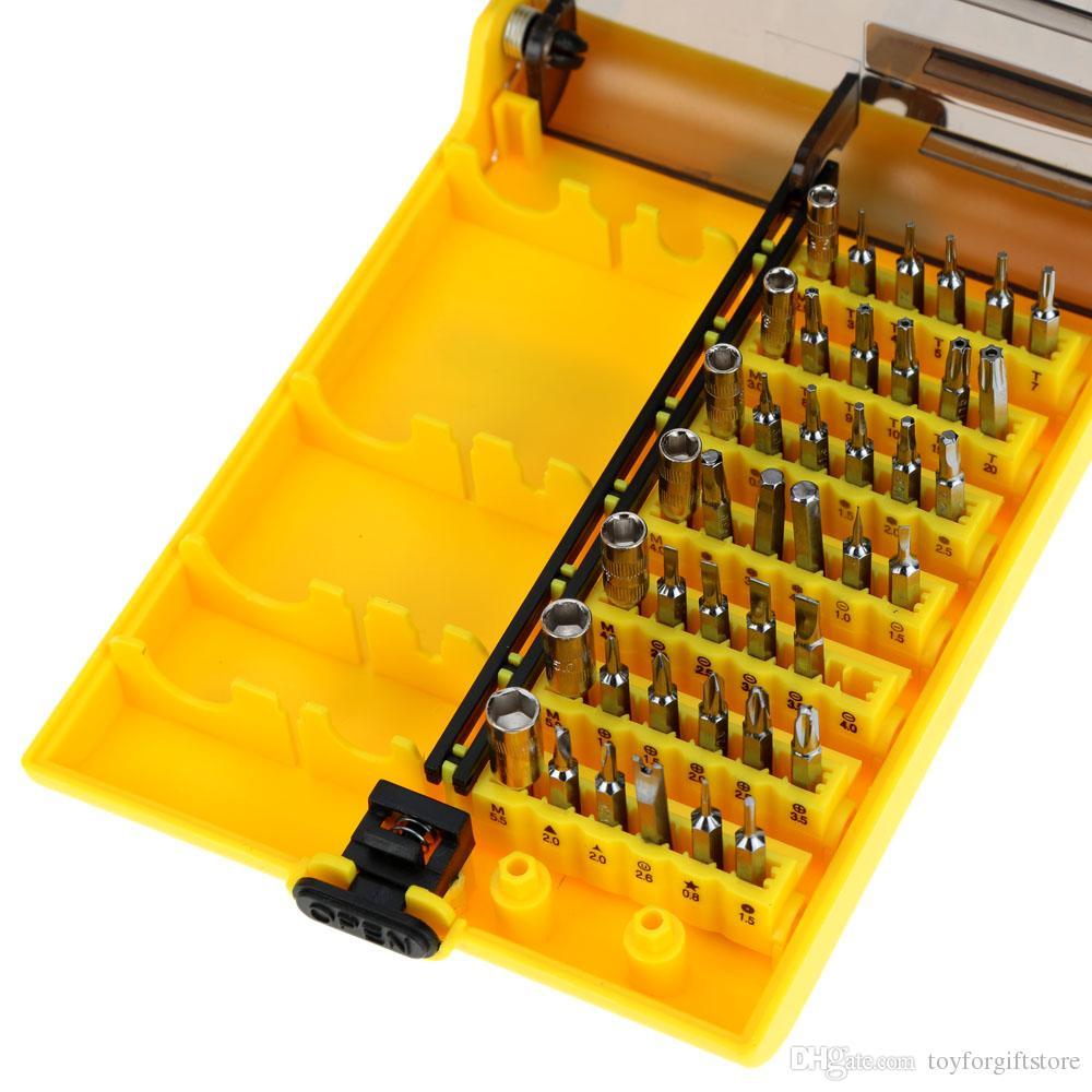 45-in-1 Tornavida Seti Ince El Tool Kit Donanım Vida Sürücü Seti Cep Telefonu Sabit Sürücü için Değiştirilebilir Manuel Aracı Set