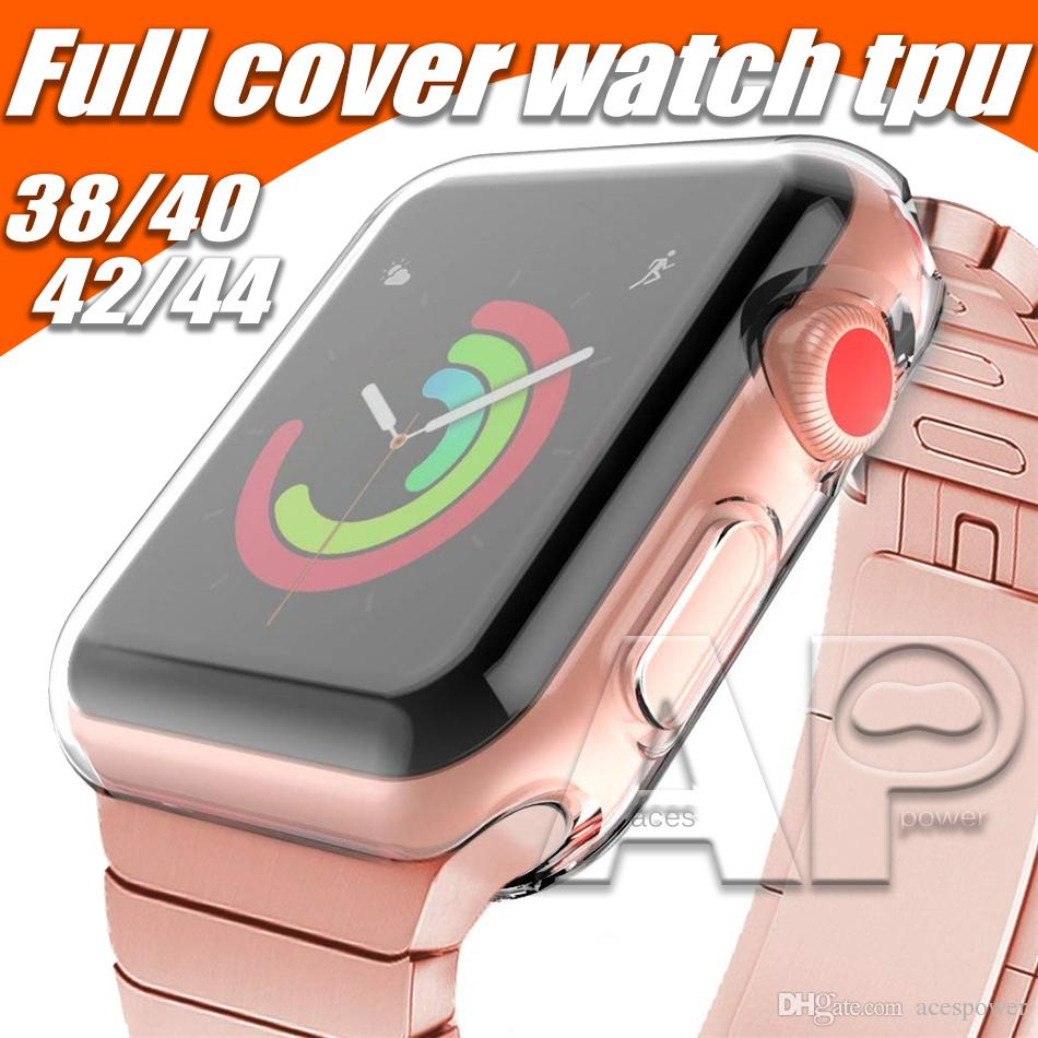 For iWatch 4 Case 40mm 44mm 38mm 42mm Clear Soft TPU Cover Series 1 2 3 Screen Protector For Apple Watch 4