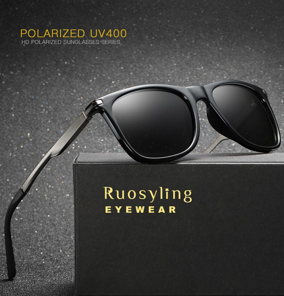 5b94f728c0 Ruosyling Polarized Sunglasses UV 400 Men Male Goggle Classic Italy Design  Men Sun Glasses Polarized UV400 Lentes De Sol Mujer Kids Sunglasses Locs ...