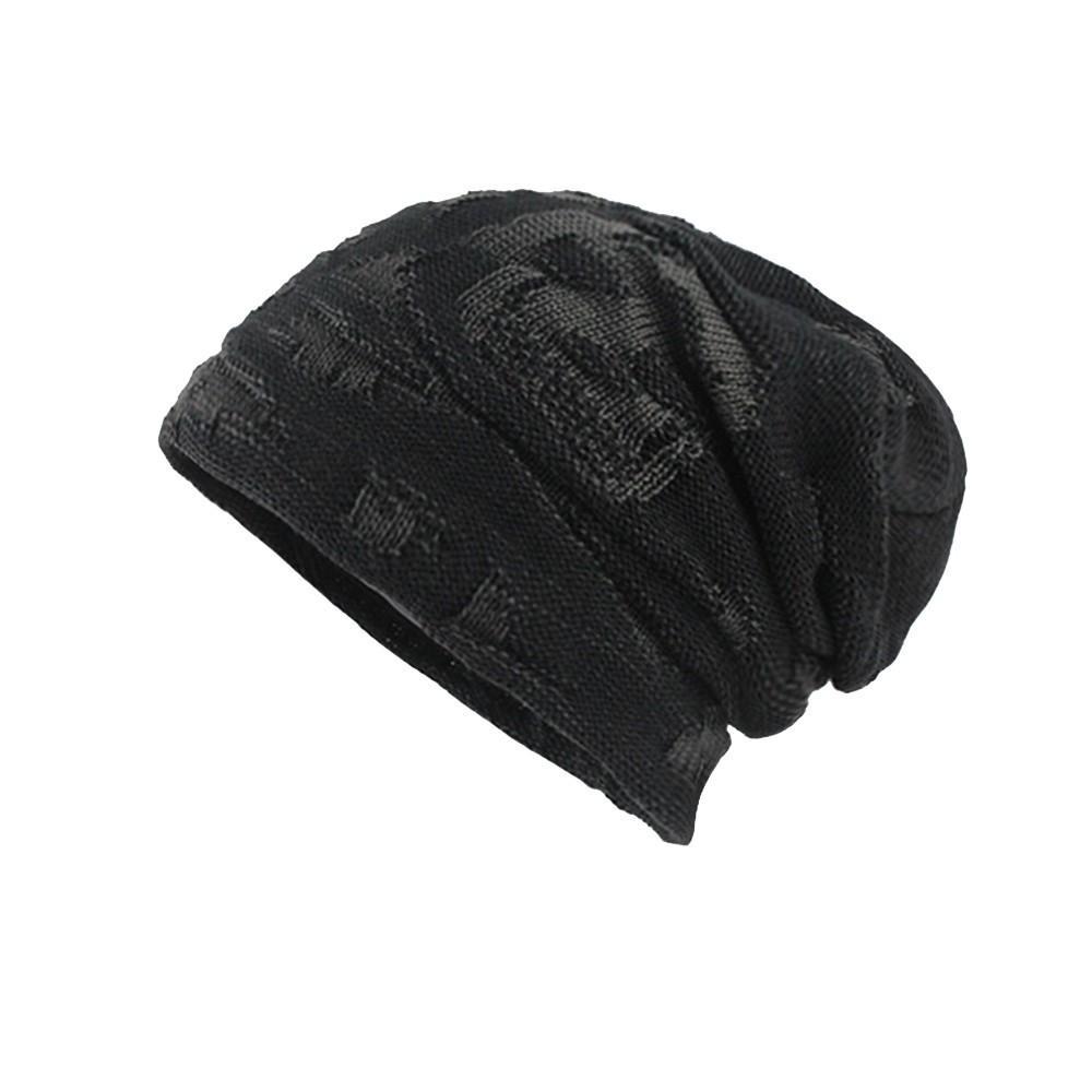 888732d2c9e Men s Thicken Warm Knit Beanie Crochet Winter Knit Skull Slouchy ...