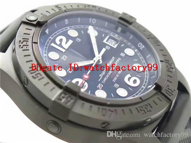 Luxury brand new style 45MM 2836 Automatic Movement Mens watch 316L Steel Sapphire Crystal rubber steel Uni-directional rotating bezel