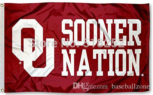 OKLAHOMA SOONER NATION Flag 3x5 FT Banner 100D Polyester flag brass  grommets free shipping 201733