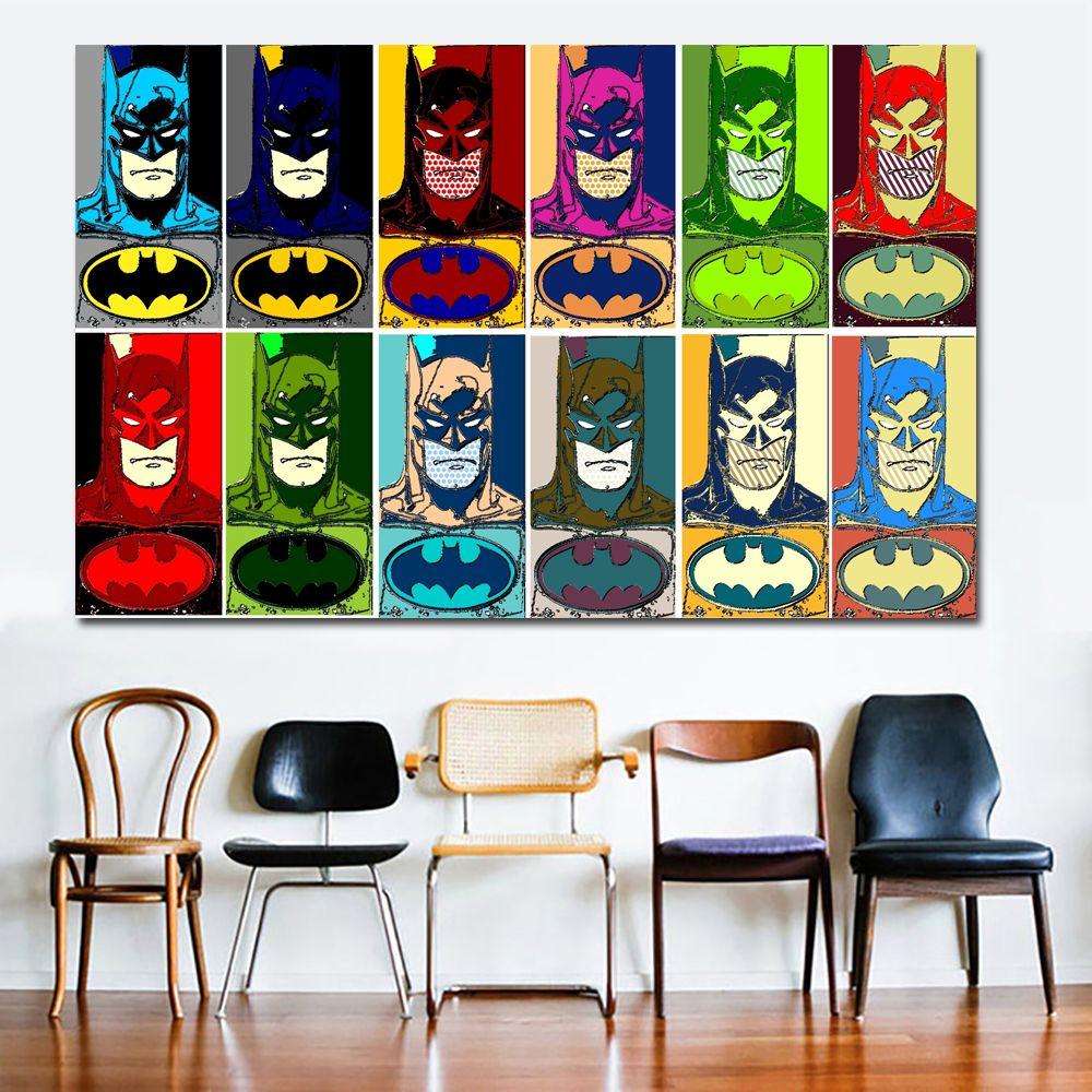 Cartoon Superhero Batman Canvas Painting Kids Boy Bedroom Wall Decor Prints  Posters For Living Room No Framed UK 2019 From Wallstickerworld, ...