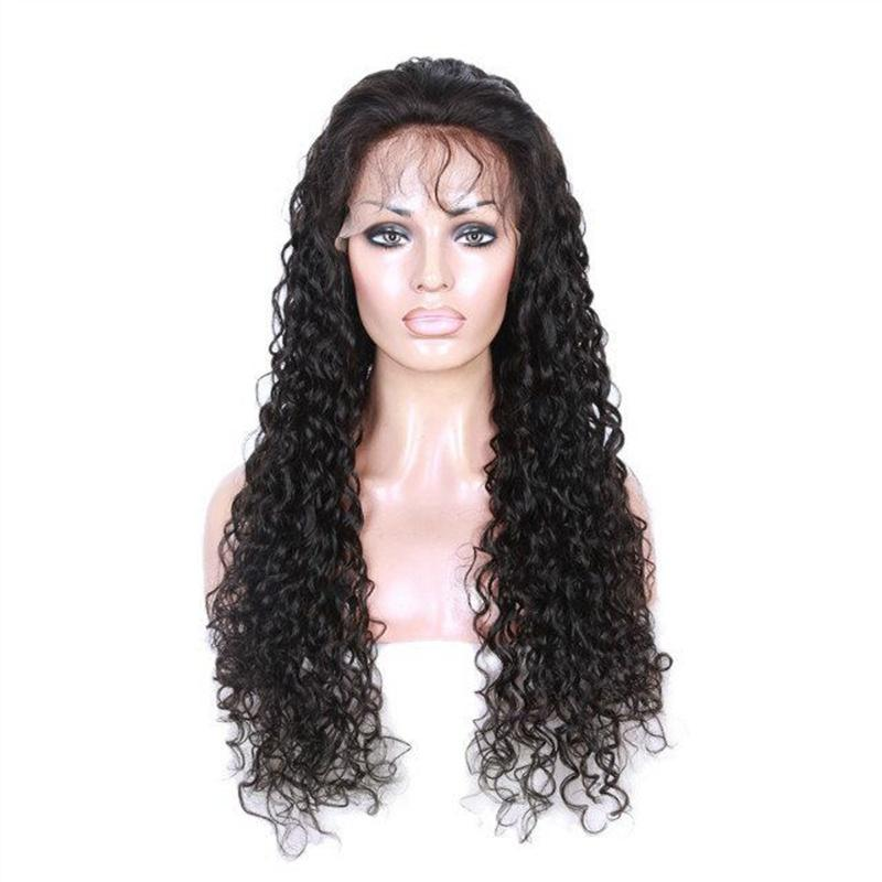 Hot selling Afro Kinky Curly Wig Kinky Curly Human Hair Full Wigs with bangs in stock
