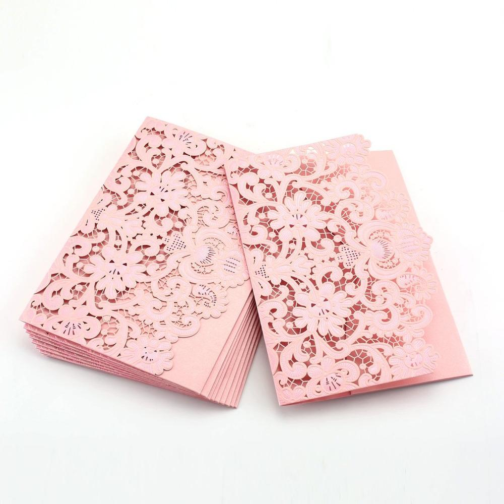 foldable invitation card cover european exquisite hollow out bride