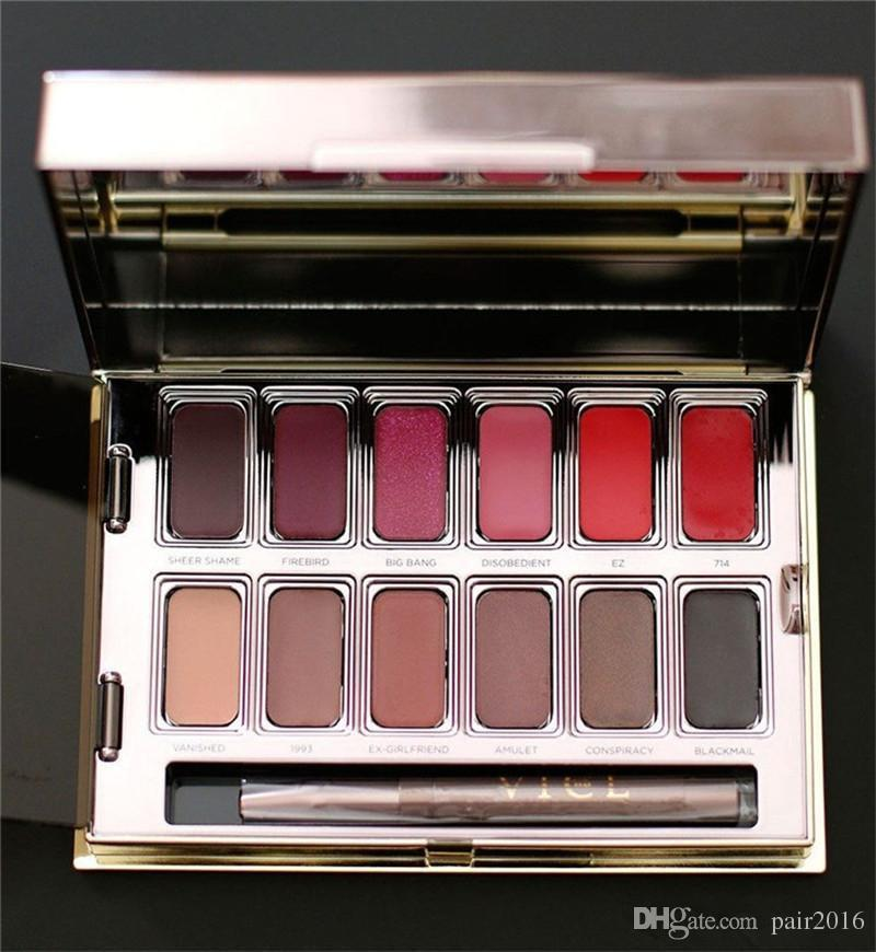 New NU Blackmail Vice Lipstick Lip Gloss Palette Cream Lip Makeup Long Lasting Cosmetics Limited Edition DHL